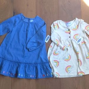 NWT jean dress and rainbow 🌈 dress